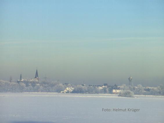 Lanker Silhouette im Winter