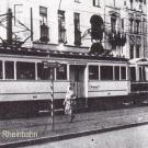 Triebwagen mit angehängtem Speisewagen von Oberkassel nach Krefeld um 1933