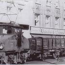 Ein Kohlenzug auf dem Weg von Moers über Lank und Büderich nach Düsseldorf um 1950