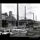 Das Industriegelände war von Anfang an gut an die Bahn angeschlossen