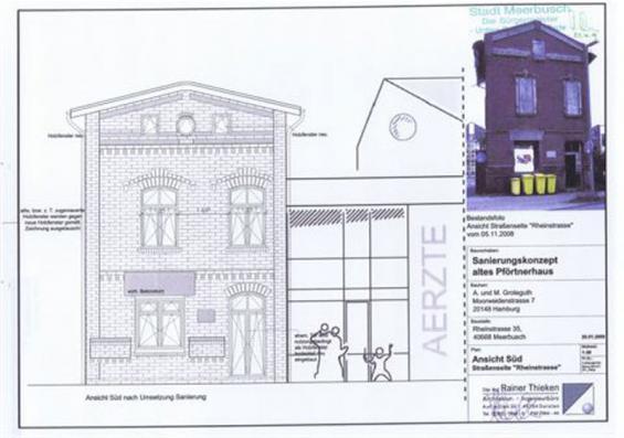 Aufriss der Fassade