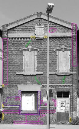Kartierung der Fassade