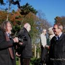 Ein Baumspender (Franz-Josef Radmacher) wird interviewt