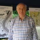 Am Infostand der Vors. des Fördervereins Haus Meer, Dr. Herbert Jacobs