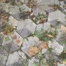 Fußboden der alten Schloss-Terrasse