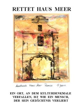 """06 Plakat der """"Aktionsgemeinschaft Rettet Haus Meer"""""""