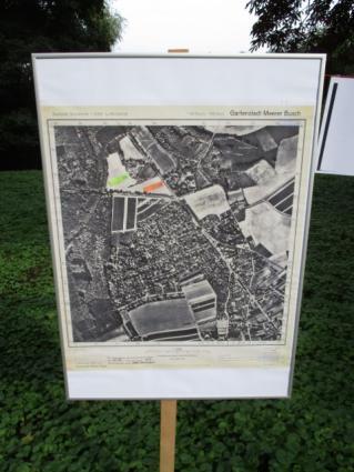 Lage des historischen Ringofens westlich der B222 (grüner Pfeil)