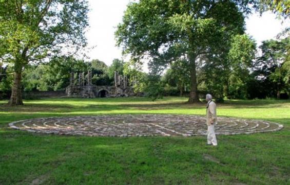 Das Labyrinth ist am Tag des offenen Denkmals 2009 zu besichtigen und zu begehen