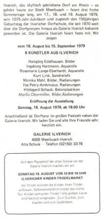 Einladung der Galerie Ilverich zur Ausstellung