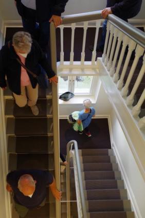 Treppe in den zweiten Stock