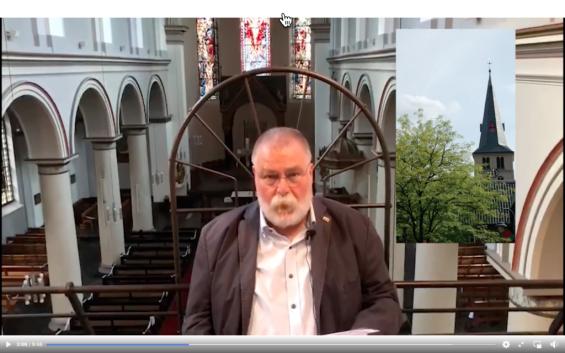 Franz-Josef Jürgens beim Vortrag (Screenshot aus dem Video)