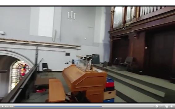 Orgelempore (Screenshot aus dem Video)